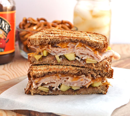 Turkey Apple Cheddar Sandwich Recipe: Easy Leftover Turkey Dinner Ideas