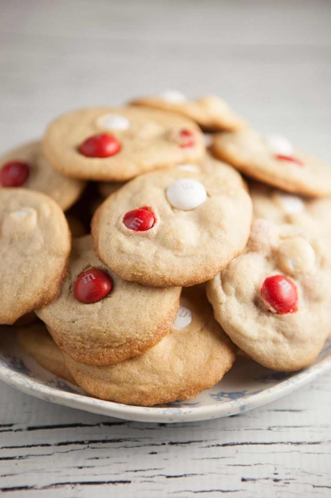 Peppermint White Chocolate M&M Cookies | Brooklyn Farm Girl