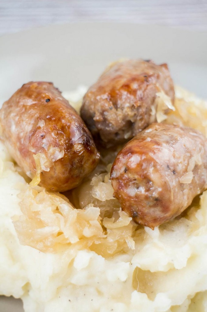 Slow Cooked Sausage and Sauerkraut | Brooklyn Farm Girl